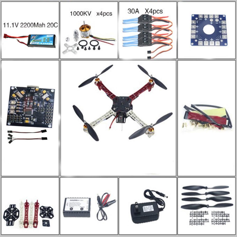 F02502-B RC QuadCopter MultiCopter UFO ARF/Kit no TX&RX:KK V2.3 Circuit board+1000KV Motor+30A ESC+Lipo+F450 Flamewheel  цены