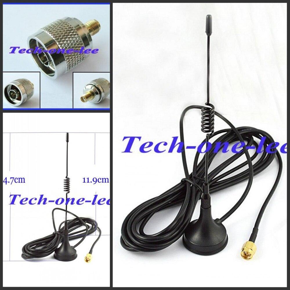 10 pièce/lot 433 Mhz 5dbi GSM antenne SMA connecteur droit avec base magnétique pour radio jambon + un adaptateur N mâle vers SMA femelle