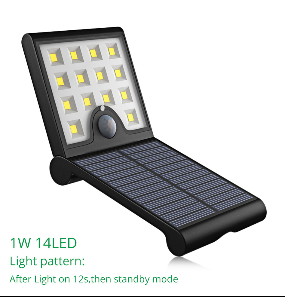 IP65 Outdoor Solar Led Lighting Home Garden Street Courtyard Solar Wall Lights Motion Sensor Lamp Modern Lithium Battery (4)
