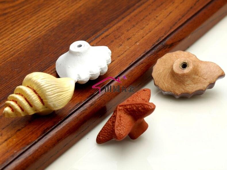 1 шт. морская серия полимерные ручки тянет ручка ящика шкафа и ручка для домашнего оборудования дверные ручки для мебели морская Морская звезда