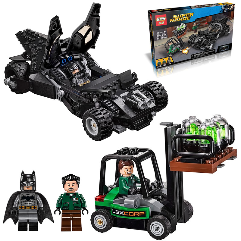 LEPIN Super Heroes Kryptonite Interception Batmobile Building Block Set Batman 2 LexCorp henchmen Minifigures Fits legoe