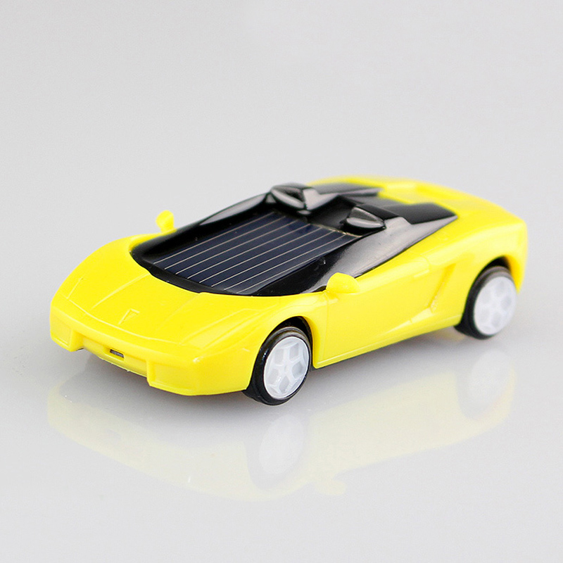 1 pcs random color mini plastic solar power toy car solar toy for kids children educational gadget trick novelty solar car toy in solar toys from toys