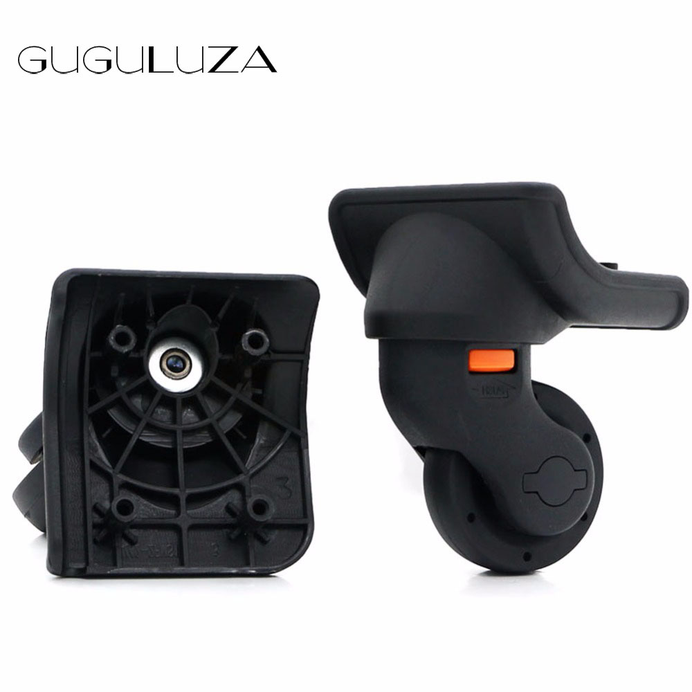 GUGULUZA One Pair Luggage Wheels Suitcase Removable Spinner Replacement Repairment Wheels Travel Trolley Luggage Wheels W073