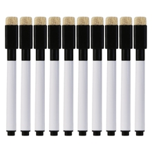 цены 10 Pcs Magnetic Whiteboard Pen Black Ink Erasable Marker Office School Stationery Supplies