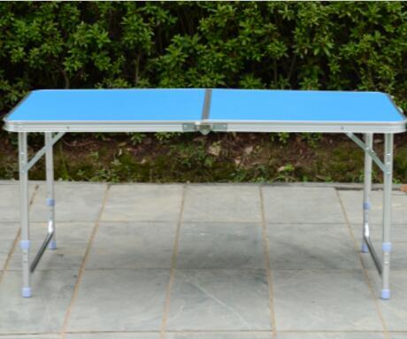 120*60*70 cm draagbare vouwen bureau aluminium strand tafel