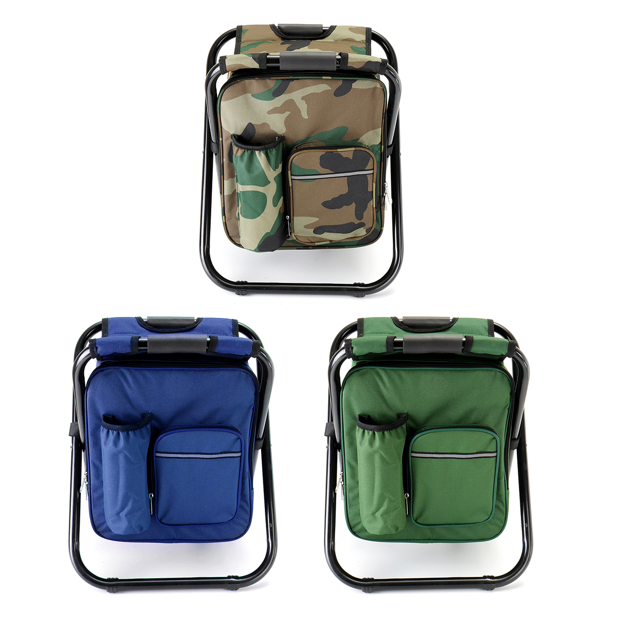 1.8L 3 In 1 Outdoor Fishing Chair Portable Multifunction Foldable Cooler Bag Chair Backpack Fishing Stool Chair Fishing Camping