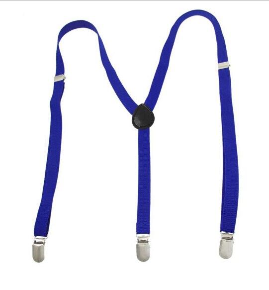 MYPF Adult Adjustable Metal Clamp Elastic Suspenders Braces - 8 Colors