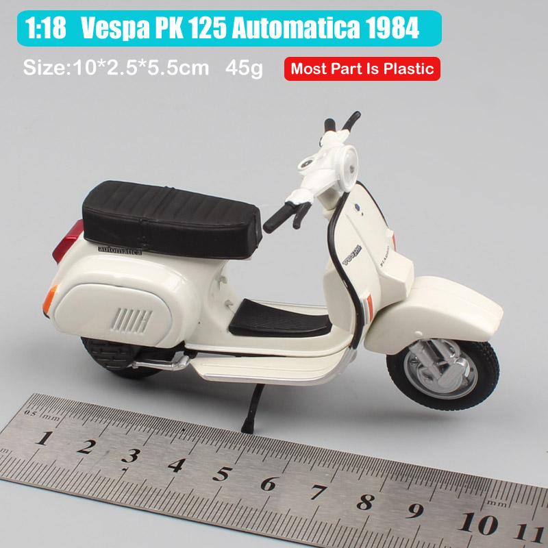 1 18 scale maisto mini Piaggio Vespa PK 125 Automatica 1984 motorcycle diecast moto bike vehicles toy model miniatures for kids in Diecasts Toy Vehicles from Toys Hobbies