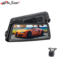 WHEXUNE Car DVR 4G Android 5.1 Mirror 10Full Touch IPS GPS HD 1080P Dual lens vehicle rearview mirror camera ADAS WIFI dash cam