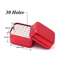 1PC 30 Holes Dental Burs Holder Stand Autoclave Disinfection Box Sterilizer Case