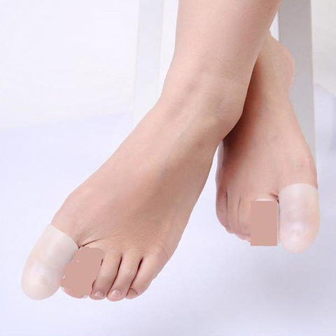 50 pair 100 pcs new silicon tampa do dedo do pe pedicure ferramentas cuidados com