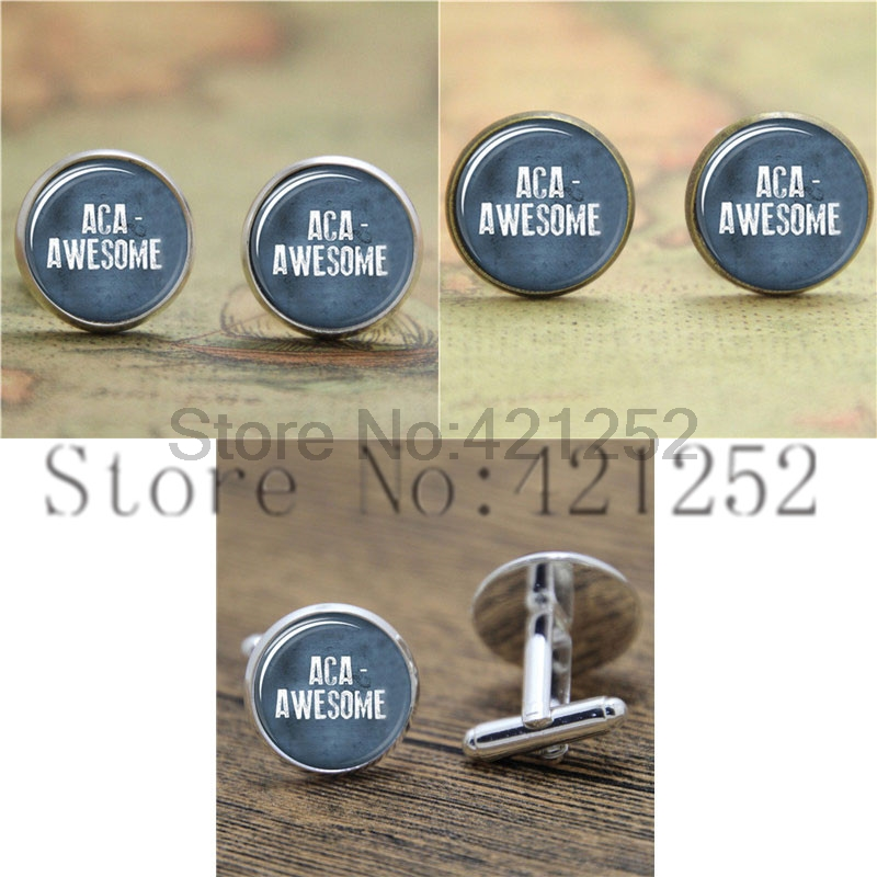 Aca-Awesome Pitch Perfect Inspired Glass Photo Cabochon Necklace keyring bookmark cufflink earring