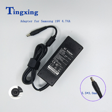 цена 19V 4.74A 5.5*3.0mm 90W Laptop AC Power Adapter Apply to Samsung NotebooK R428 R410 R65 R520 R522 R530 R580 R560 R518 R410 R429 в интернет-магазинах