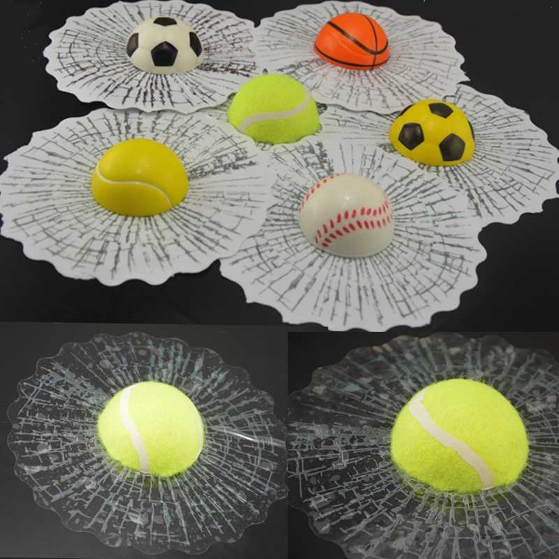 Car Styling 3D Adesivi Per Auto Divertente Auto Palla Colpisce Car Body Finestra Sticker Autoadesivo Da Baseball Tennis Decalcomania Accessori
