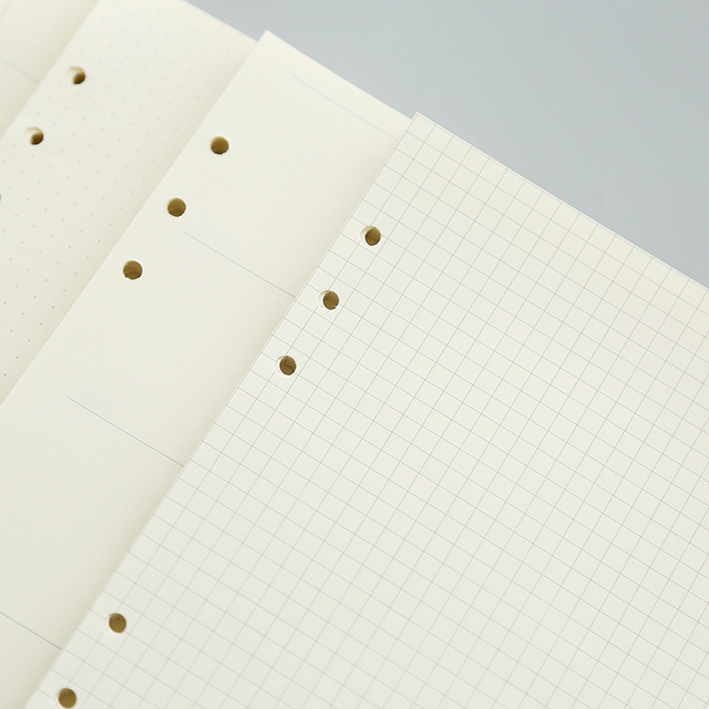 Notebook Filler Paper Loose Leaf Paper Refill Paper Agenda Planner 100gsm 6-Hole A5 A6 Size