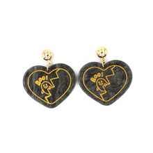 Acrylic Heart Ghost Stud Earrings Halloween Fashion Personality Women Night Club Jewelry