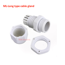 ML-Long type cable gland ML 20*1.5 Thread Size 20MM Compression Cable Glands 100pcs/lot Nylon waterproof  cable connector IP68 стоимость