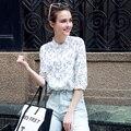 2017 Chegada Nova Verão Blusa Feminina Corpo Plus Size Soltas Camisas Das Mulheres Do Vintage Blusas Mulheres Tops