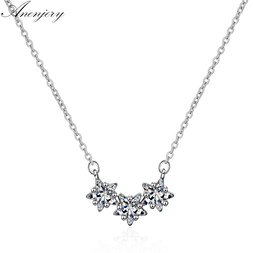 KOMO Women 925 Sterling Silver Fashion Pendants Necklace Personality Creative Exquisite Opal Heart Shaped Love Necklace Clavicle Chain Gift