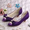 (20 Цветов) Женская Обувь Фиолетовый Низком Каблуке Насосы Невесты Партии Открытым Носком Dropshipping