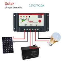 Controlador de Carga Regulador do Painel 10A tipo Comutação Solar 12 V 24 10A tipo de Comutação Regulador Carga do Painel RUA Controlador DA Lâmpada