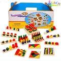 14 Set/lot combinación de medios de enseñanza montessori Preescolar Juguetes Educativos Juguetes niños Juguetes Montessori Geométrica juguetes de montaje