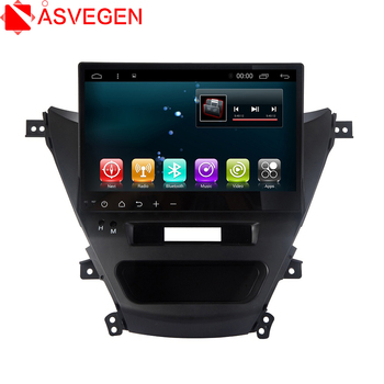 Asvegen 10.2'' Android 6.0 Quad Core Car GPS Navigation Auto audio Head unit Multimedia DVD Player For Hyundai Avante 2012-2016