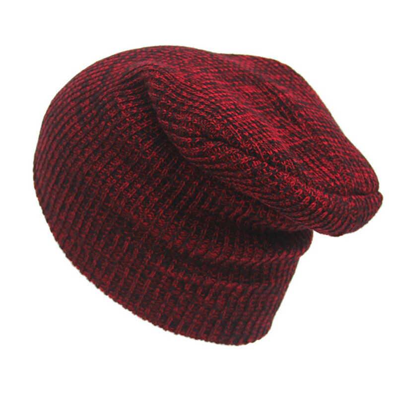 Bigsweety Hot Sale Knitted Hip Hop Hat Unisex Beanies Winter Warm Hats Cap  Beanies Skullies Stripe e2e05fdc2e2