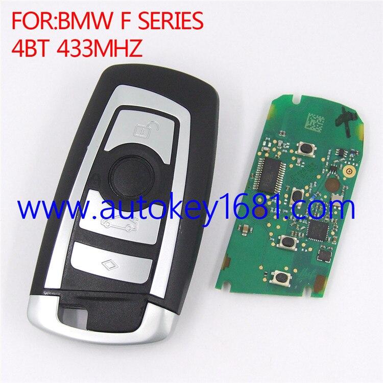 Entrée sans clé À Télécommande Clé De Voiture Fob Remplacement CAS4 433 mhz Fit BMW 5 7 Série (Adapte: BMW)