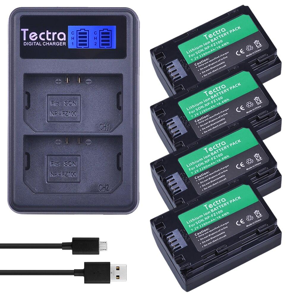 4 pcs NP FZ100 NP-FZ100 NPFZ100 battery+LCD USB Dual Charger for Sony ILCE-9, BC-QZ1, a7r3, A7RIII, ILCE-7RM3, A9R, 7RM3, camera durapro 4pcs np f970 np f960 npf960 npf970 battery lcd fast dual charger for sony hvr hd1000 v1j ccd trv26e dcr tr8000 plm a55