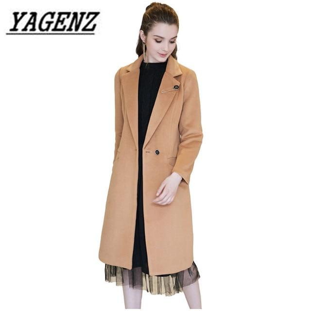 3431373ae9d Camel wool coat Women jackets winter 2018 slim fashion temperament long  Outerwear large size 5XL warm casual winter jacket A996