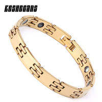 New Fashion Classic Black Health Ceramic For Women Girl Germanium Infrared Negative Ion Magnet Bracelet Trendy Jewelry Gifts