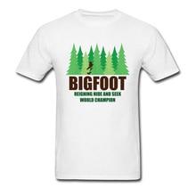 e5f590ed5 LYNSKEY Green Forest Earth Day T Shirt For Men Bigfoot Sasquatch Hide Seek  Cotton