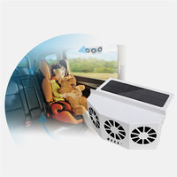 Solar Powered Car Window Air Vent Ventilator,with Three headed Fan,Clear The Car Smell,Protect Electrical Appliances in The Car