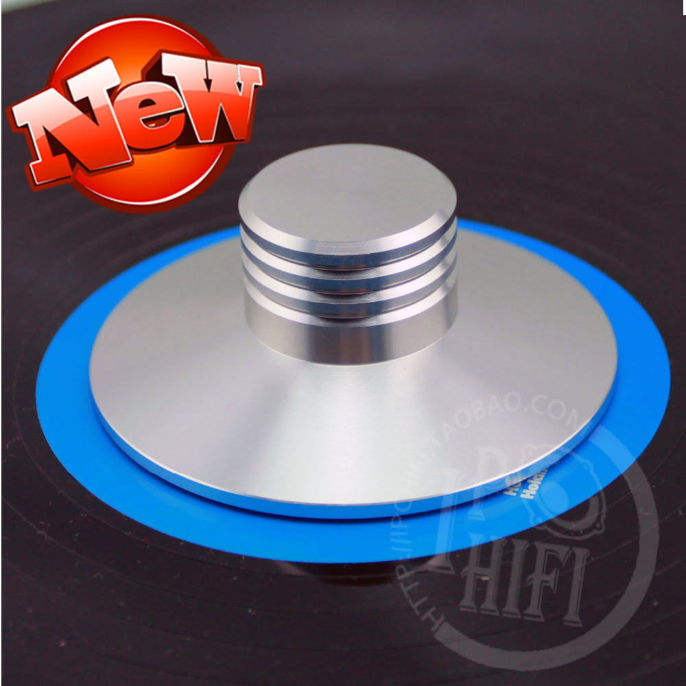 New Listing Elvon Aluminum LP Vinyl Turntables Metal Disc Stabilizer Record Weight/Clamp Silver or Black