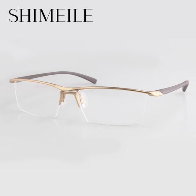 2016 Moda óculos sem aro de Titânio quadro Homens Marca de designer Óculos terno óculos de leitura P9112