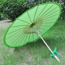100Pcs/Lot Green Paper Parasol - handmade bamboo and rice paper umbrella декоративный зонтик paper umbrella