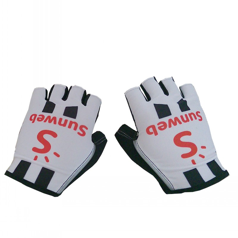 2018 pro team sunweb white Cycling gloves GEL pad mens high quality summer half finger Bike gloves Size m-XL