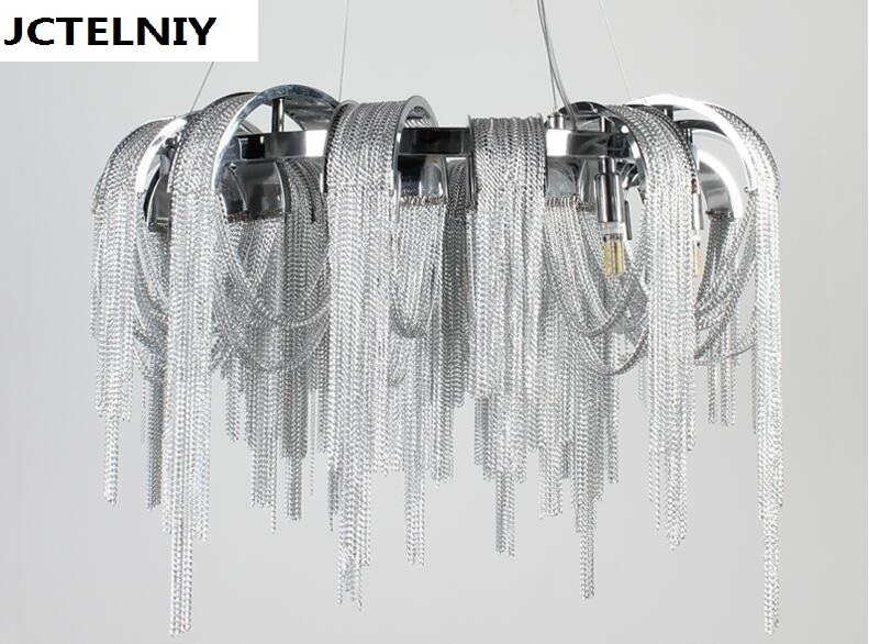 Desain baru LED aluminium chandelier cahaya mewah D650mm Emas / perak - Pencahayaan dalam ruangan - Foto 4