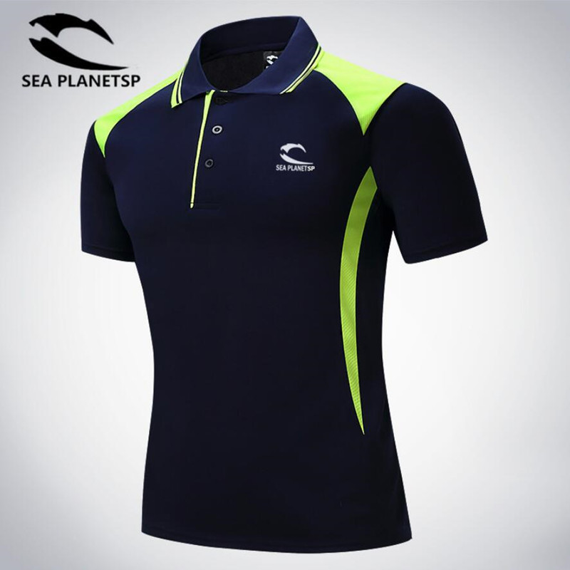 T-Shirt Morning Sports Summer And Turn-Over-Collar Leisure Short-Sleeved High-End Men's