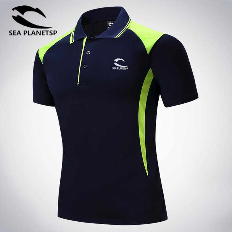 Men's T-shirt Summer sports Leisure and Morning High-end Short-sleeved Polo Shirt Turn-over Collar