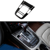 4pcs 100% Carbon Fiber Center Gear Shift Frame Cover Trim For Audi A5 13 16 2dr