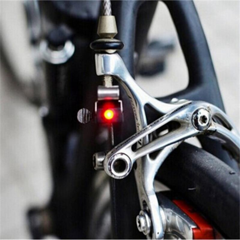 Hot Sale Brake Bike Light Mini Mountain Bicycle Light Tail Rear Cycling Red LED Lamp With CR1025 Battery Cycling Accessories
