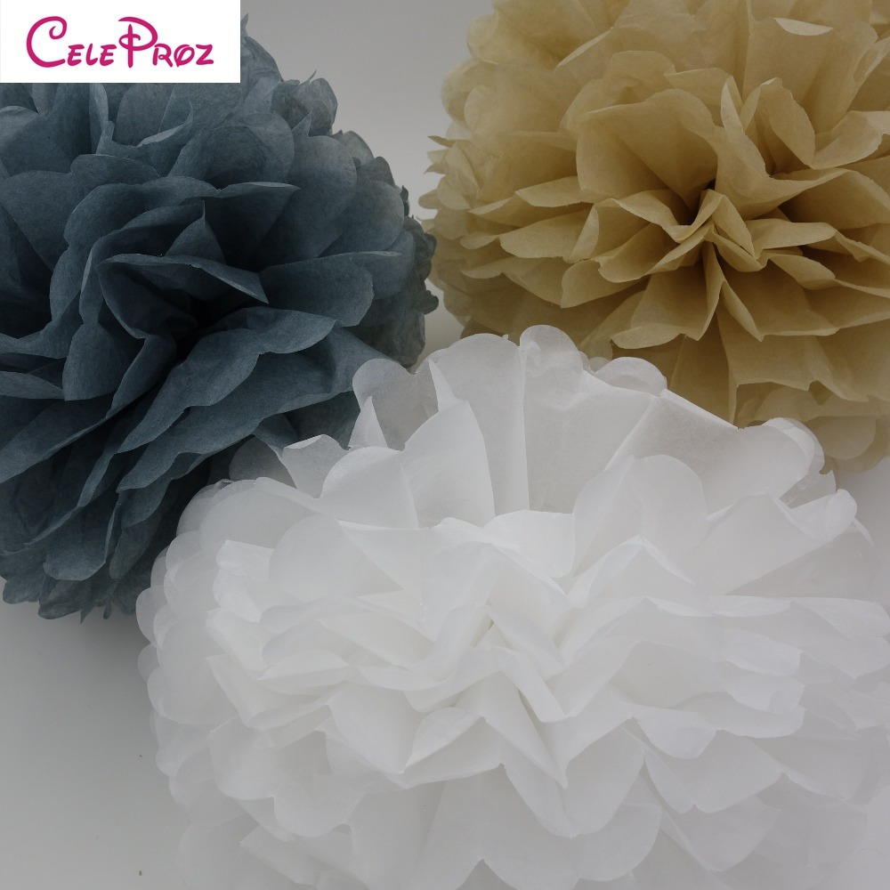 (5pcs) 15cm Tissue paper pom poms balls Wedding Decoration birthday kids party supplies baby shower christmas deco