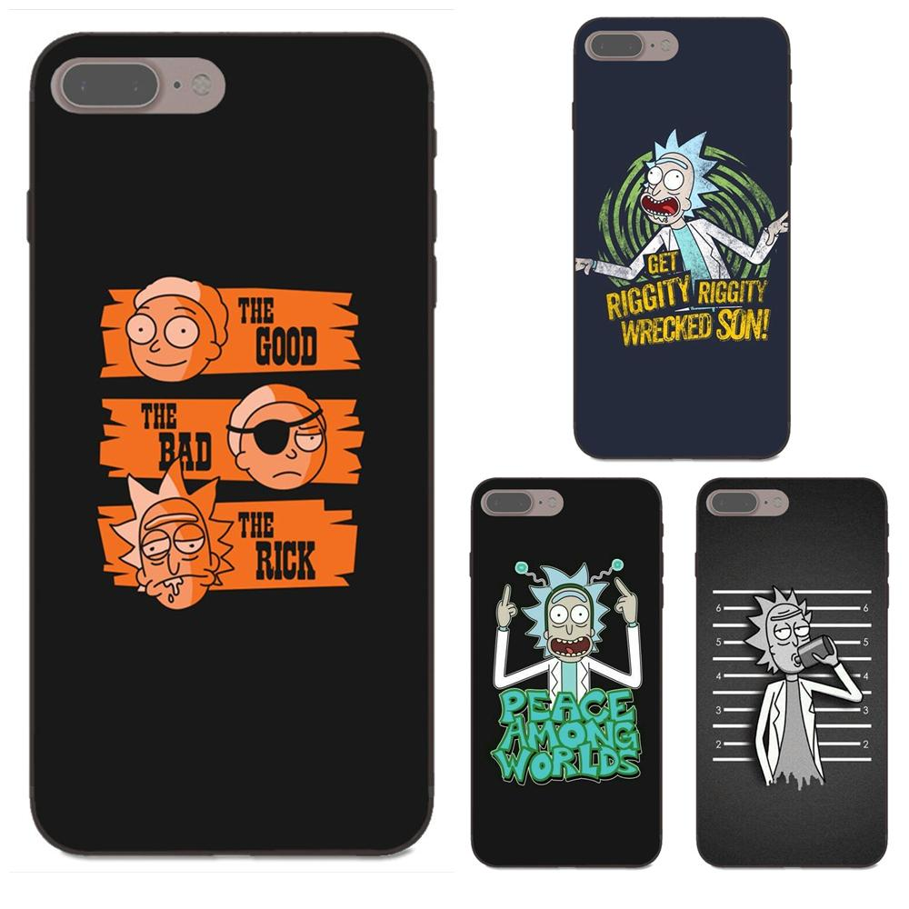 Soft Luxury For Xiaomi Redmi Note 2 3 4 4a 4x 5 5a 6 6a Plus Pro S2 Y2 Cartoon Comic Meme Rick And Morty Splendid Hot Sale 50-70% OFF Half-wrapped Case Cellphones & Telecommunications
