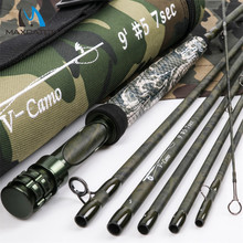 Maximumcatch New Design Travelling Fly Fishing Rod Camo Traveler/Travel 36T SK Carbon Fiber 9FT 5WT 4/7PCS Fly Rod