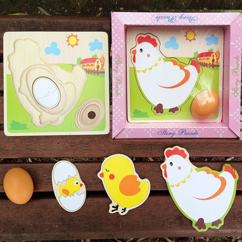 Hot 1 set multilayer chicken growth hen growing up cartoon for Model chicken set