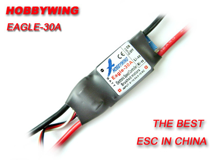 1pcs Hobbywing 30A ESC Brushed Speed Controller Eagle-30A hobbywing rc model eagle 20a r c hobby brushed motor esc speed controllers