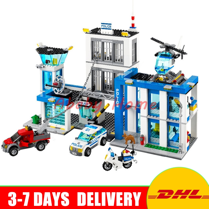 DHL Bela 10424 Police Headquarters 890PCS Educational Building Blocks Bricks Model Toys With Children Gifts compatible 60047 compatible lepin city blocks block police dog unit 60045 building bricks bela 10419 policeman toys for children