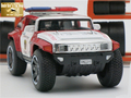 1/32 Scale Hummer Police Diecast Vehicles, Model Cars Toys With Openable Doors/Pull Back Function/Light/Music For Boys As Gift